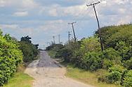 Road to Corral Nuevos from Arcos de Canasi, Mayabeque, Cuba.