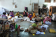 Women are working on the premises of Gas Peedit Mahila Stationary Ikai, a union of 'gas-affected women', of which Rashida Bee, 56, is the the president, in Bhopal, Madhya Pradesh, India.