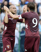 Lazio Rom vs. FC Turin / Alessandro Sgrigna-Rolando Bianchi  Fussball ITA Serie A 2013 Testspiel xsp x1x 2012 hoch <br /> <br /> <br /> Norway only