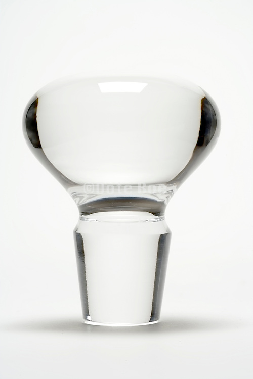 a glass cork of an bottle