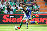 Claudio Pizarro of SV Werder Bremen and Oscar of Chelsea during the pre season friendly match at Weserstadion, Bremen, Germany.<br /> Picture by EXPA Pictures/Focus Images Ltd 07814482222<br /> 07/08/2016<br /> *** UK &amp; IRELAND ONLY ***<br /> EXPA-EIB-160807-0236.jpg