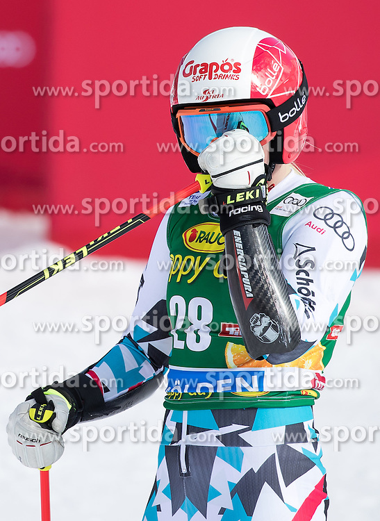 22.10.2016, Rettenbachferner, Soelden, AUT, FIS Weltcup Ski Alpin, Soelden, Riesenslalom, Damen, 2. Durchgang, im Bild Katharina Truppe (AUT) // Katharina Truppe of Austria reacts after her 2nd run of ladies Giant Slalom of the FIS Ski Alpine Worldcup opening at the Rettenbachferner in Soelden, Austria on 2016/10/22. EXPA Pictures © 2016, PhotoCredit: EXPA/ Johann Groder