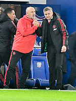 Football - 2018 / 2019 Premier League - Cardiff City vs. Manchester United<br /> <br /> Manchester Utd caretaker manager Ole Gunnar Solskjaer in his 1st game in charge celebrates his team's 2nd goal , at Cardiff City Stadium.<br /> <br /> COLORSPORT/WINSTON BYNORTH
