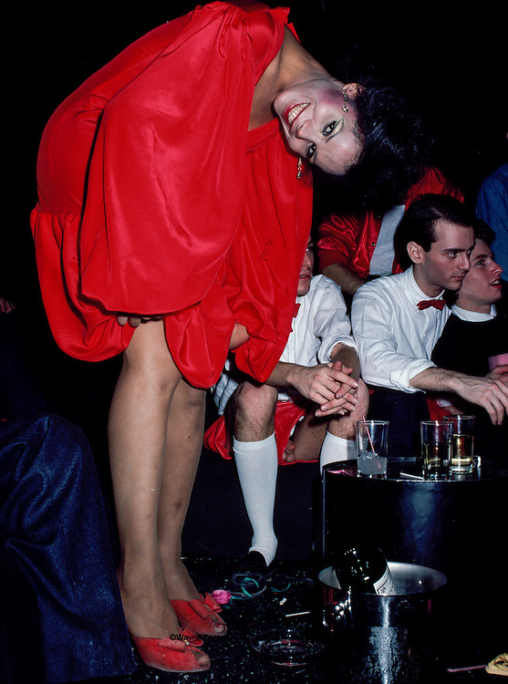 Party goers at Studio 54, New York, NY