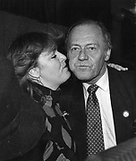 Countess Grocholska and Percy Savage 27/10/1986 ONE TIME USE ONLY - DO NOT ARCHIVE  © Copyright Photograph by Dafydd Jones 66 Stockwell Park Rd. London SW9 0DA Tel 020 7733 0108 www.dafjones.com