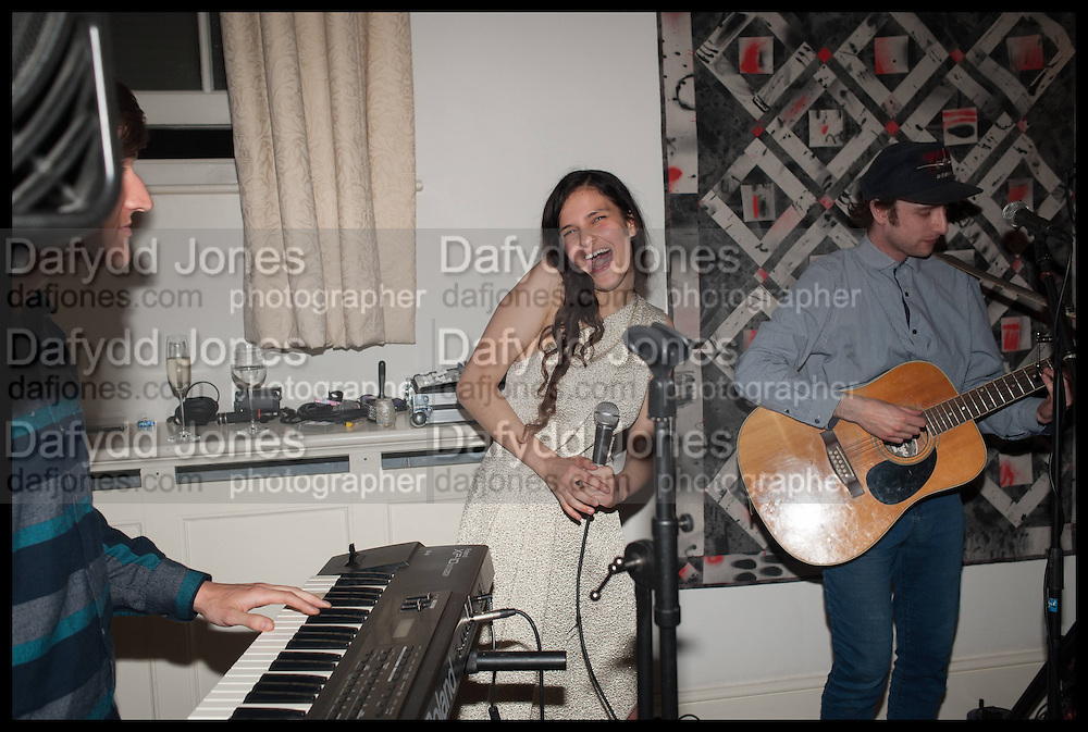 LINEDOTS DEBUT CONCERT: EVANGELINE LING; KEVIN EMERY, The Launch of OSMAN the Collective No.3, hosted by Valeria Napoleone, Kensington. 15 May 2014.