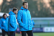 Forest Green Rovers manager, Mark Cooper during the Vanarama National League match between Forest Green Rovers and Braintree Town at the New Lawn, Forest Green, United Kingdom on 21 January 2017. Photo by Shane Healey.