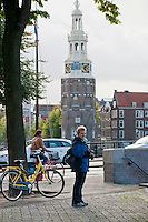 Amsterdam, Holland. A round clock tower.