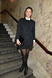 ALICE ST.CLAIR at the Lancôme pre BAFTA party held at The London Edition, 10 Berners Street, London on 14th February 2014.