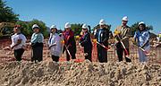 Groundbreaking ceremony at Wharton PK-8 Dual Language Academy, May 5, 2017.