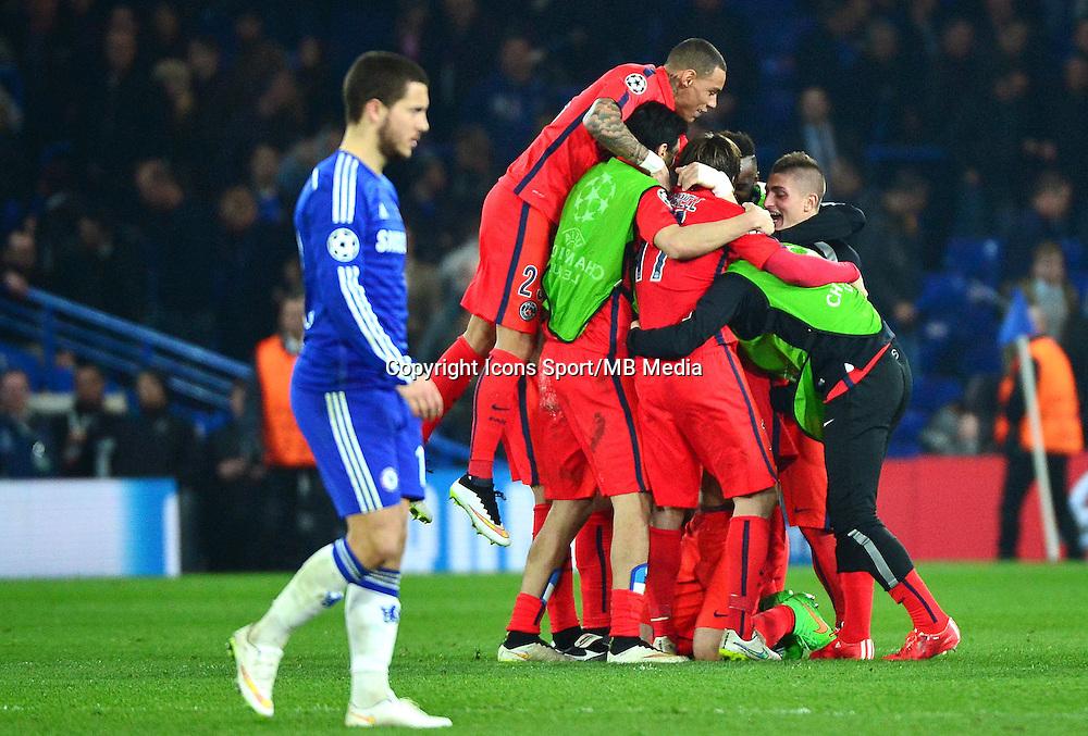 Joie PSG / Deception Eden HAZARD - 11.03.2015 - Chelsea / Paris Saint Germain - 1/8Finale retour Champions League<br /> Photo : Dave Winter / Icon Sport
