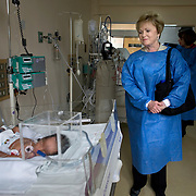 Congresswoman Kay Granger, visits a neonatal room at the Dos de Mayo Hospital in Lima, during the CARE Learning Tours visit to the hospital...Dos De Mayo hospital is run by the Ministry of Health and located in Lima's historic center.