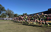 Dec 8, 2018; Balboa Park, CA, USA; General overall view of the start of the boys race during the 40th Foot Locker cross country championships at Morley Field.