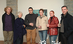 Pictured at the opening of &quot;Reconnaissance&quot; by Brian McHugh a new exhibition at the Custom House Studios Gallery. From left; John McHugh (Custom's House Director) Shirley Piggins, Brian Walsh (exhibiting artist) Laura Gallagher, Breeda Burns and Fr. John Kenny.<br />The Exhibition runs until Monday the 31st of May.<br /><br />Photograph Conor McKeown.