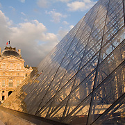 Pyramid at Musee du Louvre, Paris, France<br />