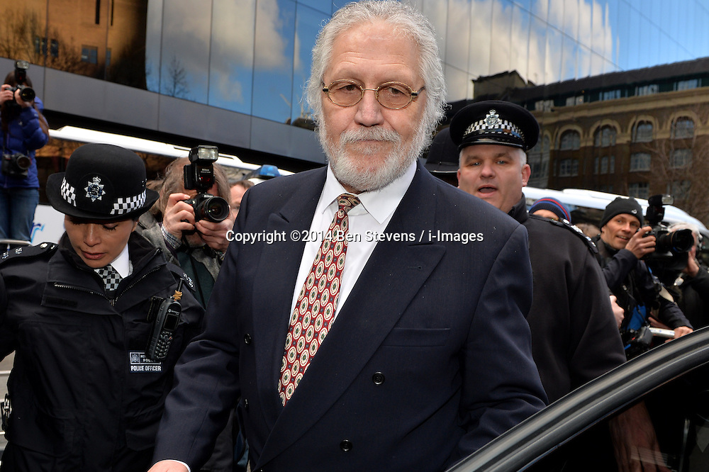 Dave Lee Travis speaks to press outside of Southwark Crown Court after being found not guilty of all but two charges.<br />  Thursday, 13th February 2014. Picture by Ben Stevens / i-Images