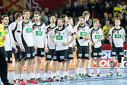 Players of Germany after the handball match between National teams of Spain and Germany on Day 2 in Preliminary Round of Men's EHF EURO 2016, on January 15, 2016 in Centennial Hall, Wroclaw, Poland. Photo by Vid Ponikvar / Sportida