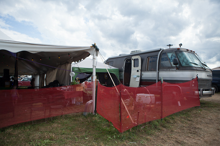 """The """"Green"""" Room at the Catskill Stage/Dance Tent."""