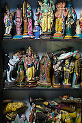 Collection of small figures at a home of Mr. Kannan, Nagaipattinam.