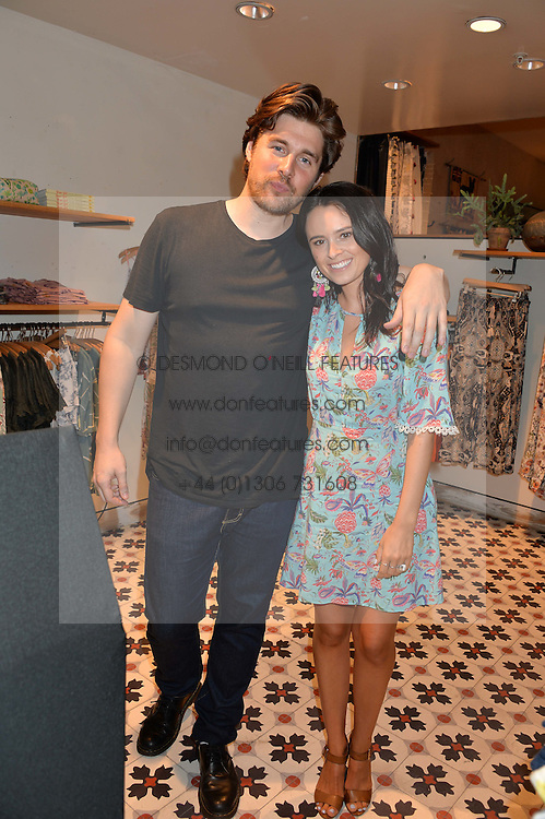 KITT PROUDFOOT and VENETIA FALCONER at a party to celebrate the launch of Matthew Williamson: Fashion, Print and Colouring Book held at Anthropologie, 158 Regent Street, London on 8th September 2016.