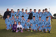 Grove Academy with the U16 Robert Caira Memorial Trophy - U16 Robert Caira Memorial Trophy Final  (sponsored by DSA)<br /> Morgan (light blue) v. Grove (yellow) at Whitton Park, Picture by David Young -