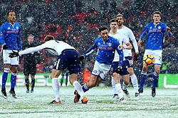 Ian Henderson of Rochdale heads the ball towards goal - Mandatory by-line: Robbie Stephenson/JMP - 28/02/2018 - FOOTBALL - Wembley Stadium - London, England - Tottenham Hotspur v Rochdale - Emirates FA Cup fifth round proper