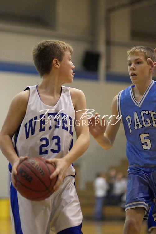 Wetsel Boys Basketball.vs Page.January 14, 2005
