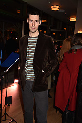 Clym Evernden at the launch of Fiume at Battersea Power Station, Battersea, London England. 16 November 2017.<br /> Photo by Dominic O'Neill/SilverHub 0203 174 1069 sales@silverhubmedia.com