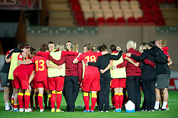 LLANELLI, WALES - Saturday, September 15, 2012: Wales players after the 2-1 defeat to Scotland during the UEFA Women's Euro 2013 Qualifying Group 4 match at Parc y Scarlets. (Pic by David Rawcliffe/Propaganda)