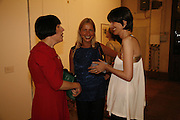 Alice Rawthorn, Iwona Blazwick and Bettina von Hase. Works donated to the auction at Sotheby's on 13 October  viewed at the Ifirst  exhibition in the new Raw Commissions Gallery. Whitechapel Gallery. 25 September 2006. -DO NOT ARCHIVE-© Copyright Photograph by Dafydd Jones 66 Stockwell Park Rd. London SW9 0DA Tel 020 7733 0108 www.dafjones.com