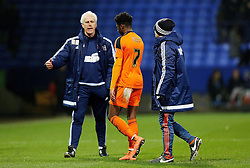 Ainsley Maitland-Niles of Ipswich Town is consoled by his manager Mick McCarthy at full time - Mandatory byline: Matt McNulty/JMP - 08/03/2016 - FOOTBALL - Macron Stadium - Bolton, Lancashire - Bolton Wanderers v Ipswich Town - SkyBet Championship