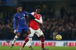Callum Hudson-Odoi of Chelsea and Bukayo Saka of Arsenal tussle for the ball - Mandatory by-line: Arron Gent/JMP - 21/01/2020 - FOOTBALL - Stamford Bridge - London, England - Chelsea v Arsenal - Premier League