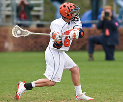 Virginia Cavaliers A Steele Stanwick (6) shoots against UMD.  The #9 ranked Maryland Terrapins fell to the #1 ranked Virginia Cavaliers 10 in 7 overtimes in Men's NCAA Lacrosse at Klockner Stadium on the Grounds of the University of Virginia in Charlottesville, VA on March 28, 2009.