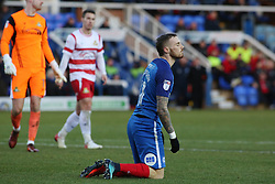 Marcus Maddison of Peterborough United reacts appearing to be fouled by Ian Lawlor of Doncaster Rovers - Mandatory by-line: Joe Dent/JMP - 01/01/2018 - FOOTBALL - ABAX Stadium - Peterborough, England - Peterborough United v Doncaster Rovers - Sky Bet League One
