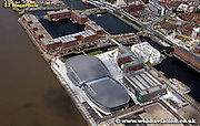 aerial photograph of the Docks inl Liverpool Merseyside England  UK