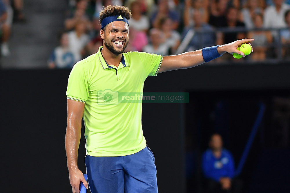 January 19, 2018 - Melbourne, AUSTRALIA - Jo Wilfried Tsonga  (Credit Image: © Panoramic via ZUMA Press)