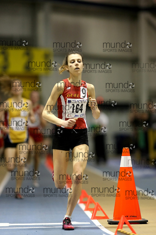 Windsor, Ontario ---14/03/09--- Courtney Laurie of  the University of Guelph competes in the Women's 1500m Final at the CIS track and field championships in Windsor, Ontario, March 14, 2009..Sean Burges Mundo Sport Images