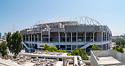 The recently re-constructed, renovated and enlarged Bloomfield Stadium, Jaffa, Israel. This large construction project was undertaken in order to double the stadiums capacity to 29,522 seats planned to end by August 2019 Photographed in August 2019
