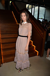 Ella Hunt at the Warner Music Group and British GQ Summer Party in partnership with Quintessentially held at Nobu Shoreditch Willow Street, London England. 5 July 2017.<br /> Photo by Dominic O'Neill/SilverHub 0203 174 1069 sales@silverhubmedia.com