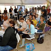 NLD/Eemnes/20060921 - Perspresentatie de Gouden Kooi, John de Mol, belangstelling van de pers