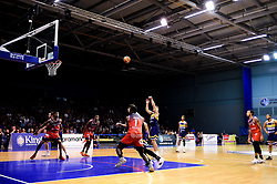 Worcester Wolves take a free throw - Photo mandatory by-line: Ryan Hiscott/JMP - 01/11/2019 - BASKETBALL - University of Worcester - Bristol, England - Worcester Wolves v Bristol Flyers - British Basketball League Cup