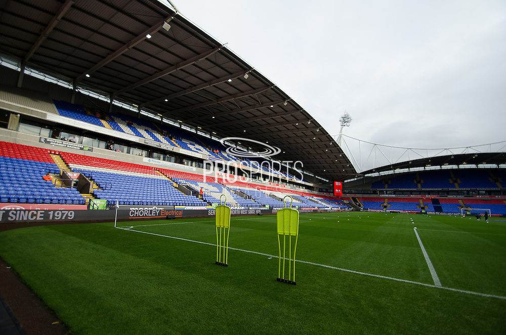 the macron stadium before the Sky Bet Championship match between Bolton Wanderers and Bristol City at the Macron Stadium, Bolton, England on 7 November 2015. Photo by Mark Pollitt.