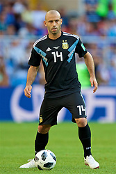 MOSCOW, RUSSIA - Saturday, June 16, 2018: Argentina's Javier Mascherano during the FIFA World Cup Russia 2018 Group D match between Argentina and Iceland at the Spartak Stadium. (Pic by David Rawcliffe/Propaganda)