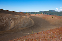 Hiking trail into crater of Cinder Cone, Lassen Volcanic National Park, California, United States of America