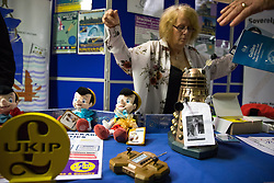 © Licensed to London News Pictures . 29/09/2017 . Torquay , UK . Guy Verhofstadt Dalek in the exhibition . UKIP is due to announce the winner of a leadership election which has the potential to split the party . Photo credit: Joel Goodman/LNP