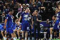 Patrice Canayer / Vid Kavticnik - 15.03.2015 - Montpellier / Kielce - 1/8Finale aller Ligue des Champions<br /> Photo : Andre Delon / Icon Sport