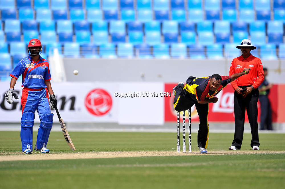 Papa New Guniea's Captain Raru Dikana Boge during their first match in the ICC T20 World Cup Qualifiers in Dubai International Cricket Stadium on the 13th of march 2012. Pix International Cricket Council/Thusith Wijedoru