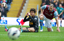 BIRMINGHAM, ENGLAND - Easter Sunday, March 31, 2013: Liverpool's Philippe Coutinho Correia rues a missed chance against Aston Villa during the Premiership match at Villa Park. (Pic by David Rawcliffe/Propaganda)