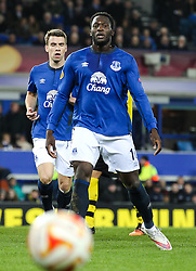Everton's Romelu Lukaku  - Photo mandatory by-line: Matt McNulty/JMP - Mobile: 07966 386802 - 26/02/2015 - SPORT - Football - Liverpool - Goodison Park - Everton v Young Boys - UEFA EUROPA LEAGUE ROUND OF 32 SECOND LEG