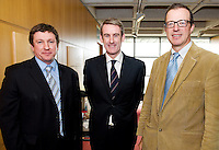 Mr Paul Neary Tallagh, Prof Laurence Egan and Dr. Herbert Tilg at the Clinical Science Building UCHG. Photo:Andrew Downes